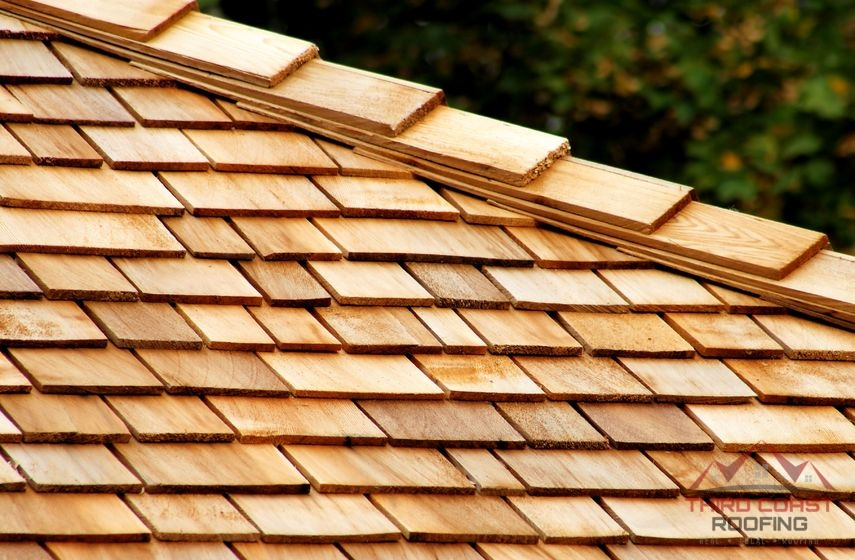 A Picture of Wooden Shingles.